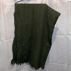 Zara army green blanket scarf